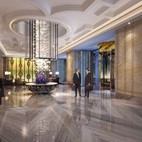 欧式奢华酒店大堂